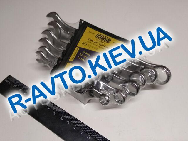 Ключи (набор) СИЛА (201037) 6 шт. 8-17  в пластике|Cтандарт|рожково-накидные