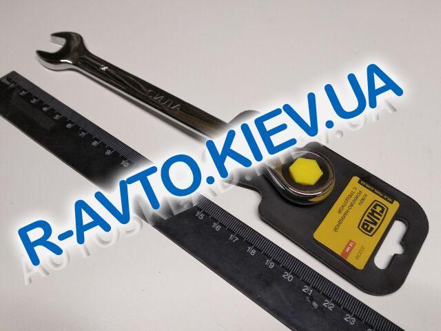 Ключ рожково-накидной 14 мм СИЛА (202018) CrV|с трещеткой