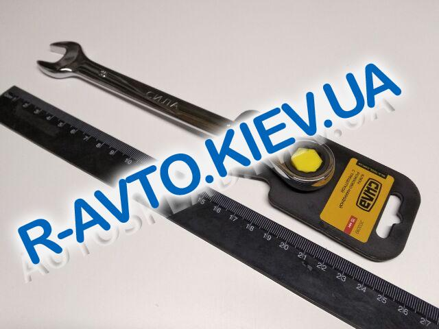 Ключ рожково-накидной 15 мм СИЛА (202019) CrV|с трещеткой