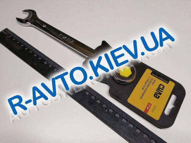 Ключ рожково-накидной 17 мм СИЛА (202021) CrV|с трещеткой