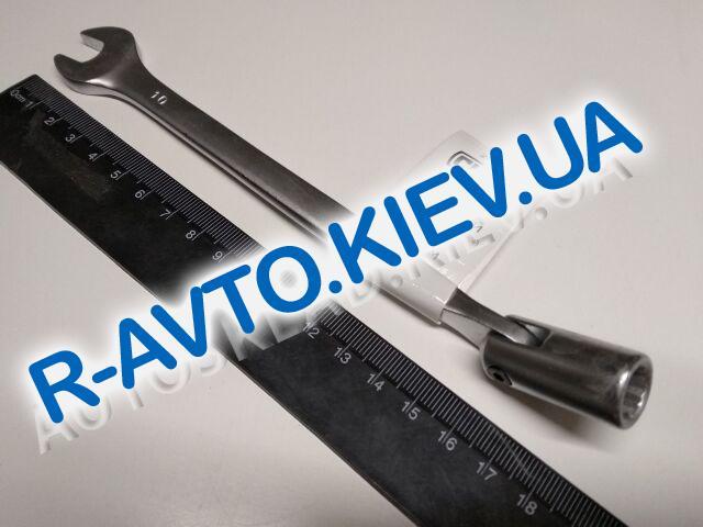 Ключ рожково-накидной 10 мм СИЛА (201510) CrV|с шарниром