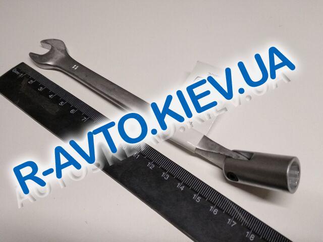 Ключ рожково-накидной 11 мм СИЛА (201511) CrV|с шарниром
