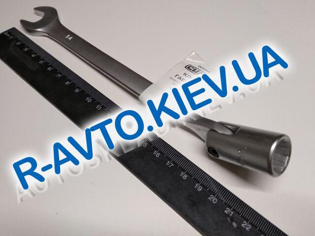 Ключ рожково-накидной 14 мм СИЛА (201514) CrV|с шарниром