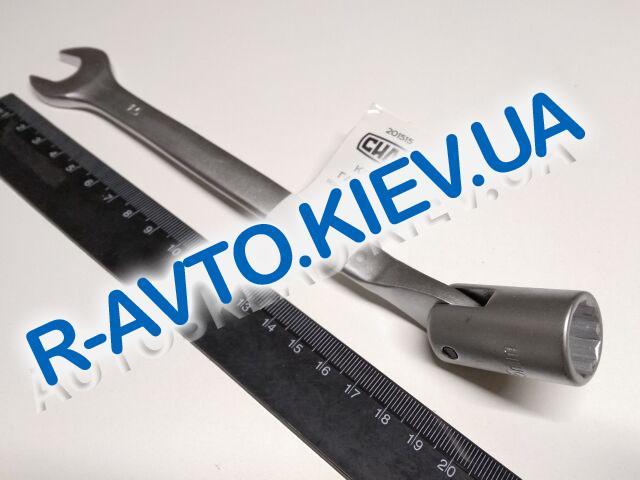 Ключ рожково-накидной 15 мм СИЛА (201515) CrV|с шарниром