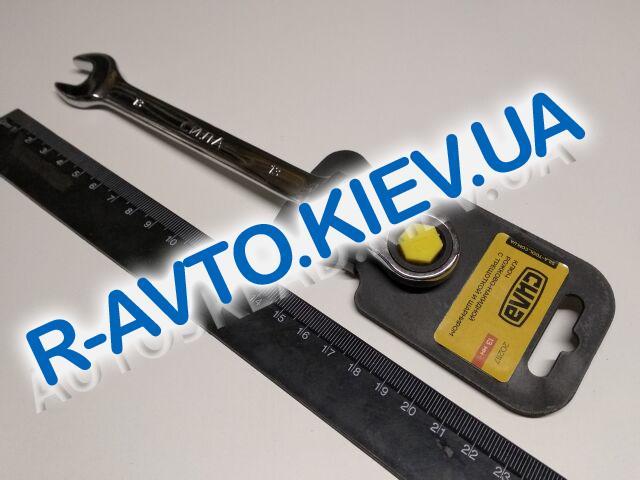Ключ рожково-накидной 13 мм СИЛА (202117) CrV|с трещеткой и шарниром