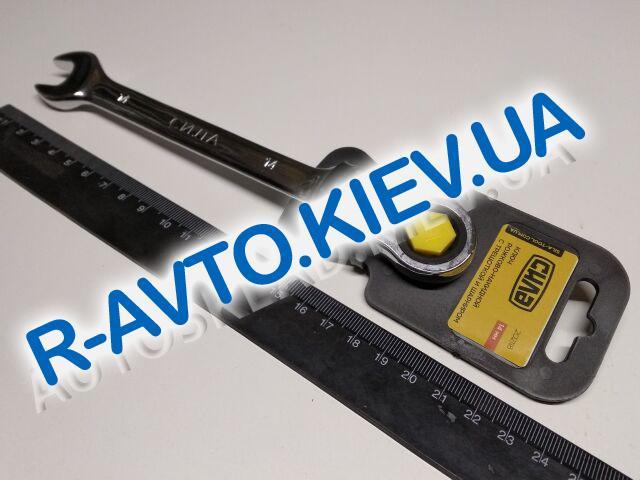 Ключ рожково-накидной 14 мм СИЛА (202118) CrV|с трещеткой и шарниром