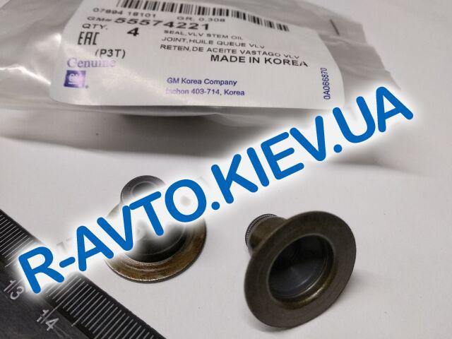 "Сальники клапанов Lanos 1.4 АКПП|Vida|Aveo T300 1.6, ""GM"" Корея (55574221) 1 шт."