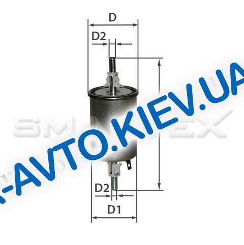 Фильтр топливный Lanos, ВАЗ 2110 инж, SMARTEX (FF19004)