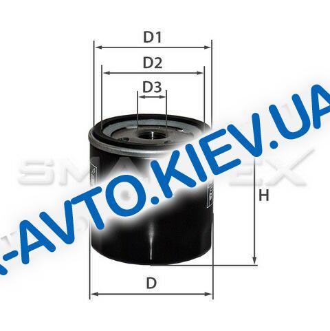 Фильтр масляный Lanos, SMARTEX (OF16021)