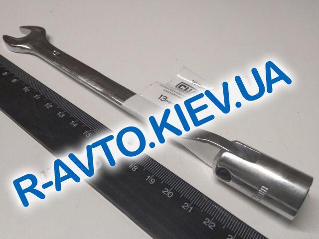 Ключ рожково-накидной 13 мм СИЛА (201513) CrV|с шарниром