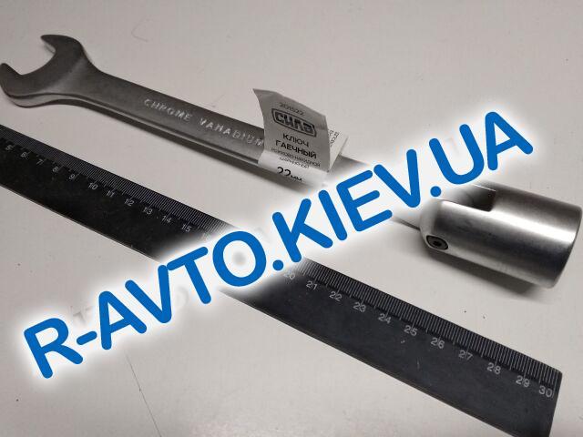 Ключ рожково-накидной 22 мм СИЛА (201522) CrV|с шарниром