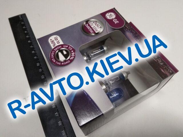 Лампа General Electric H7 12V 55W Megalight Ultra  +90% + W5W Blue (58520SXU|501NB.4D) пара