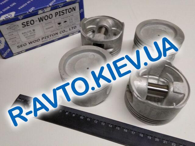 """Поршень Aveo 1.5  76,50 стандарт, """"SWP"""" Корея (96335640) к-т с пальцами под кольца Lanos 1.5"""