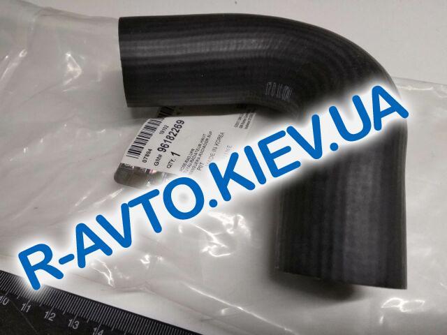 """Патрубок радиатора охлаждения Lanos 1.6 верхний с конд., """"GM"""" Корея (96182269)"""
