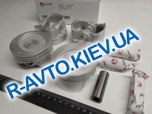 Поршень Aveo 1.5  76,75 1-й ремонт, AMP (PX-CHE-4F-1405-025) с пальцем